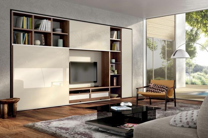 Besta Ikea Wohnwand Weiß