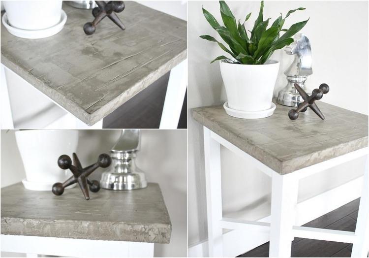 Beton Tischplatte Diy