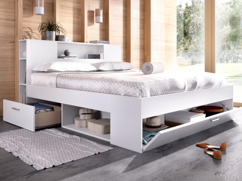 Betten Mit Stauraum Weiß