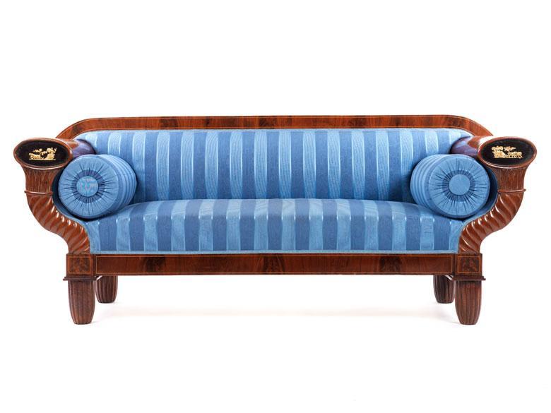 Biedermeier Sofa Blau