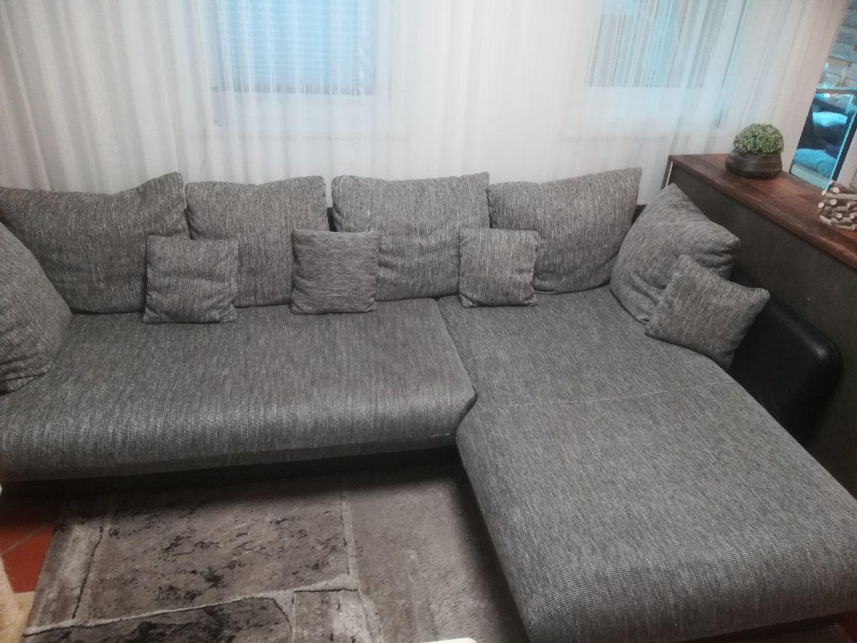 Big Sofa Grau L Form