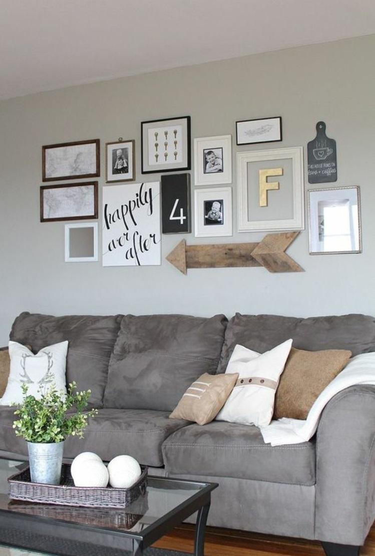 Bilderwand Wohnzimmer Ideen