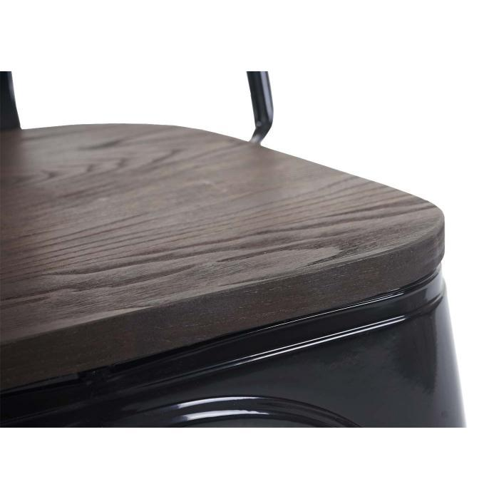 Bistrostuhl Schwarz Holz
