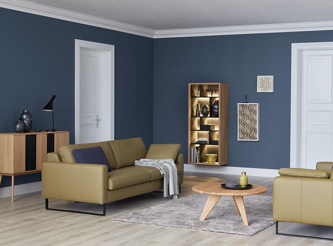 Blau Braunes Wohnzimmer