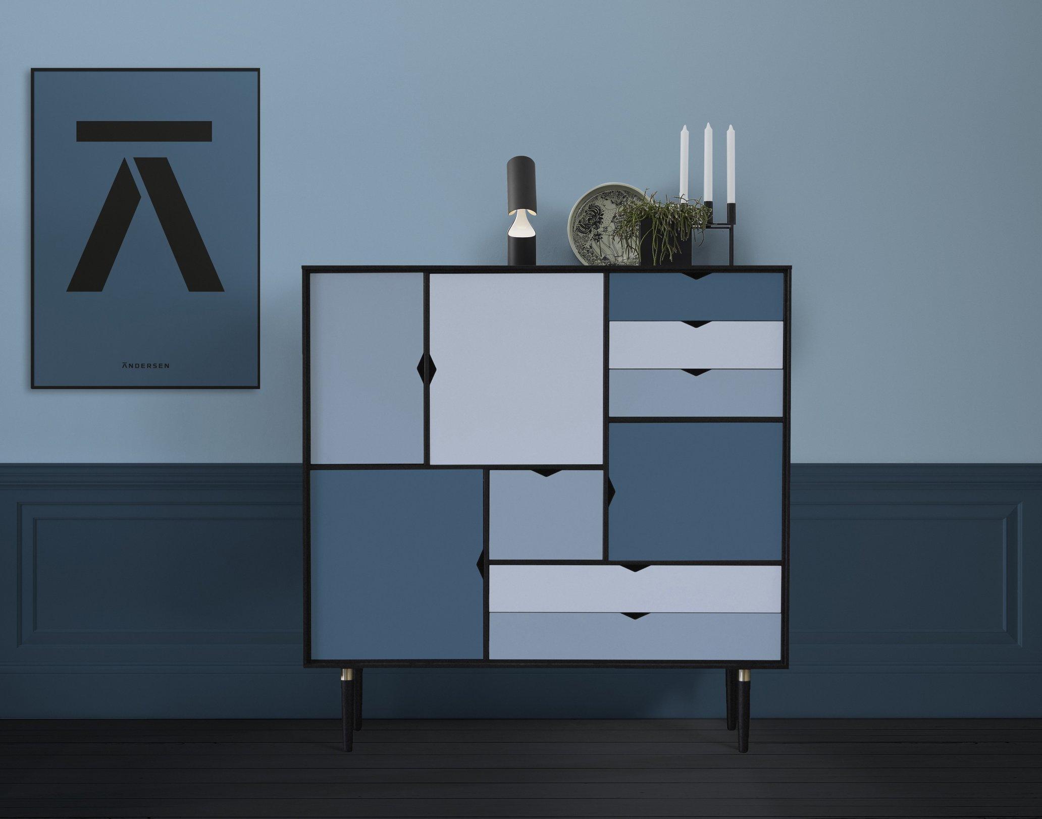 Blau Grau Farbpalette Wandfarbe Schlafzimmer