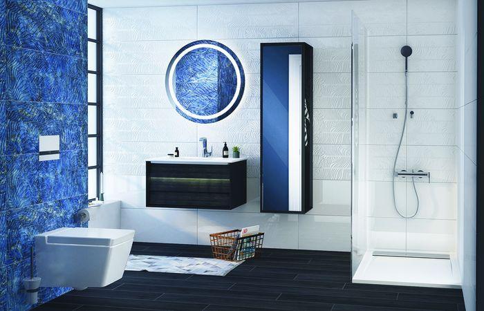 Blau Weißes Badezimmer