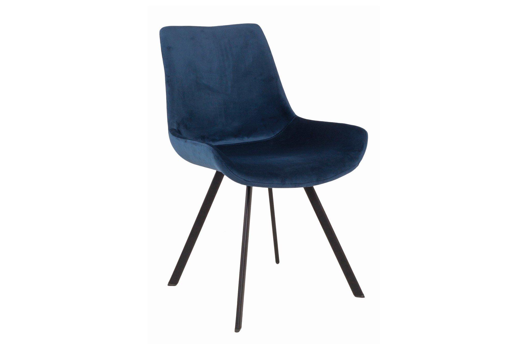 Blaue Samt Stühle