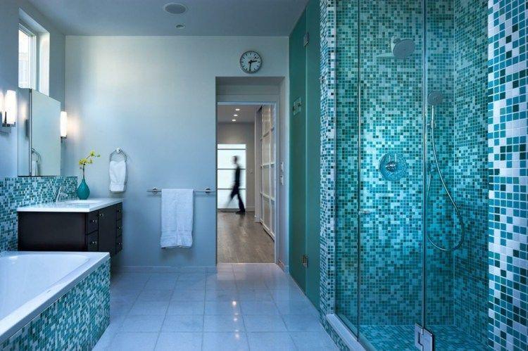 Blaues Badezimmer Dekorieren