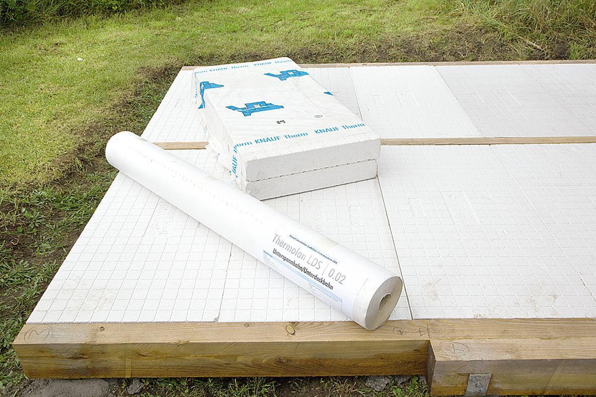 Bodenplatte Holz Gartenhaus