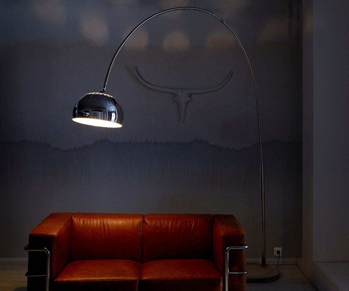 Bogenlampe Dimmbar über Esstisch
