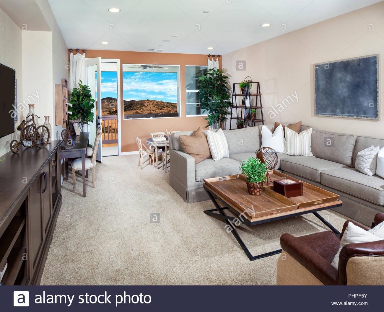 Braun Graues Wohnzimmer