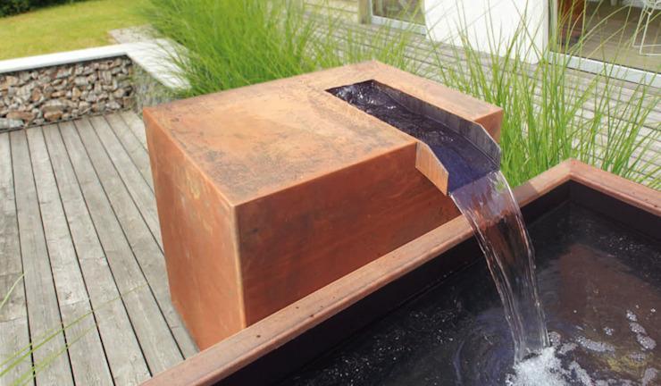 Brunnen Aus Cortenstahl