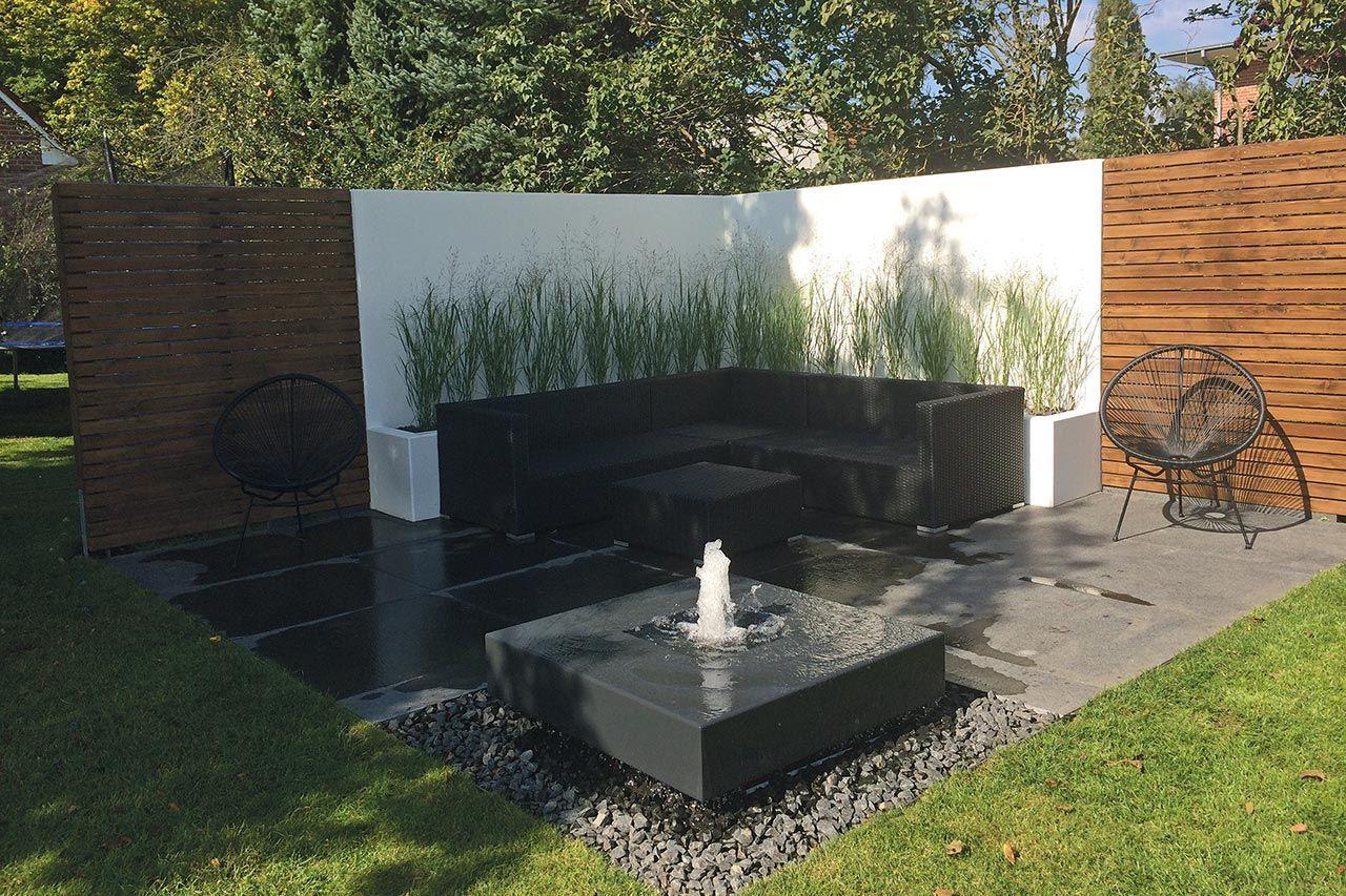 Brunnen Im Garten Modern