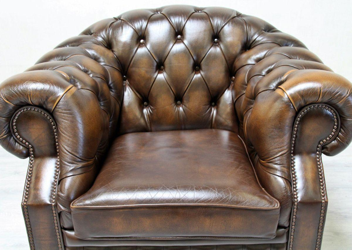 Chesterfield Sessel Leder