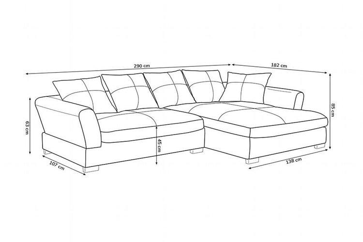 Couch Braun L Form