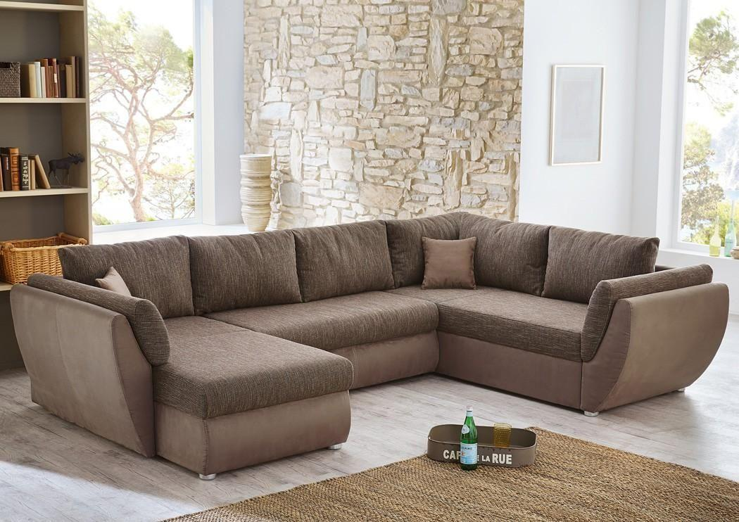 Couch Braun U Form