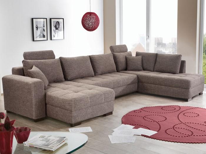 Couch Grau Braun