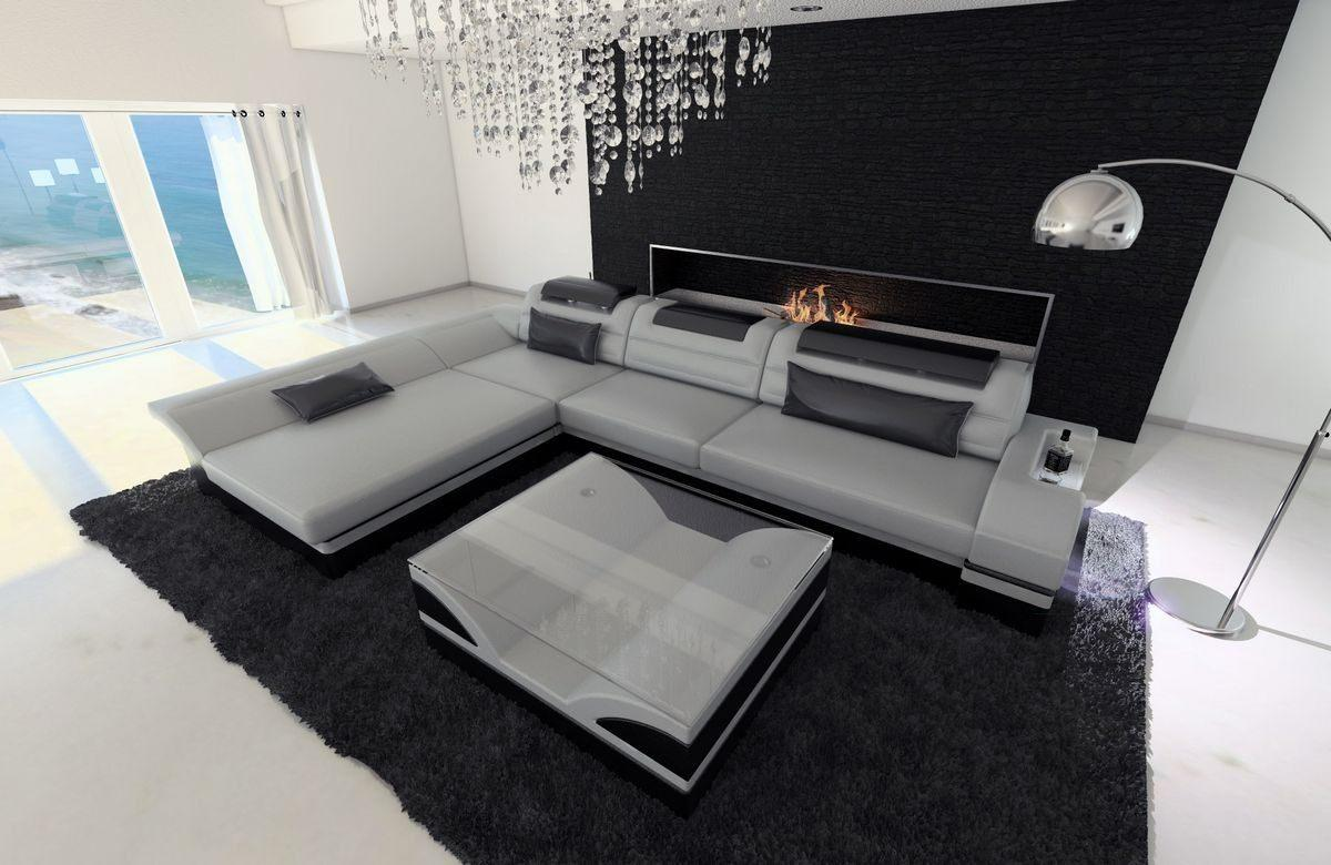 Couch Grau L Form