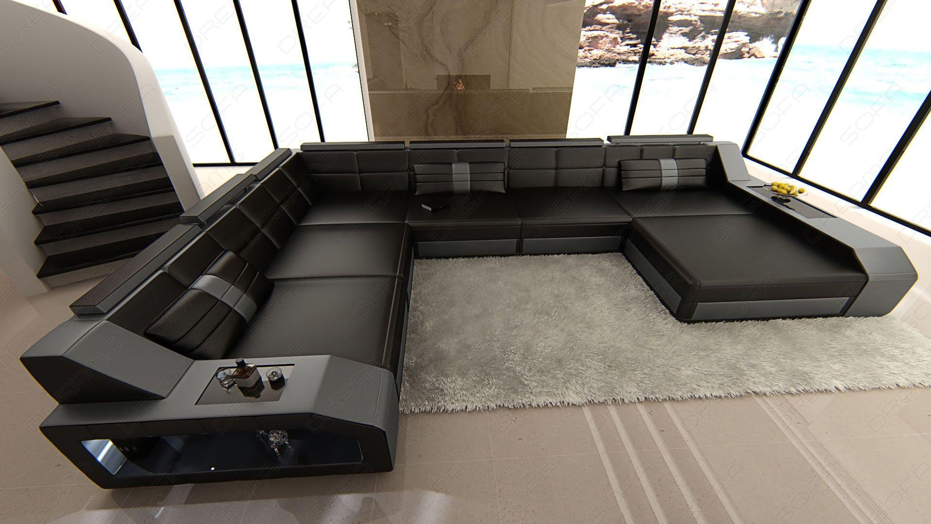 Couch Leder U Form