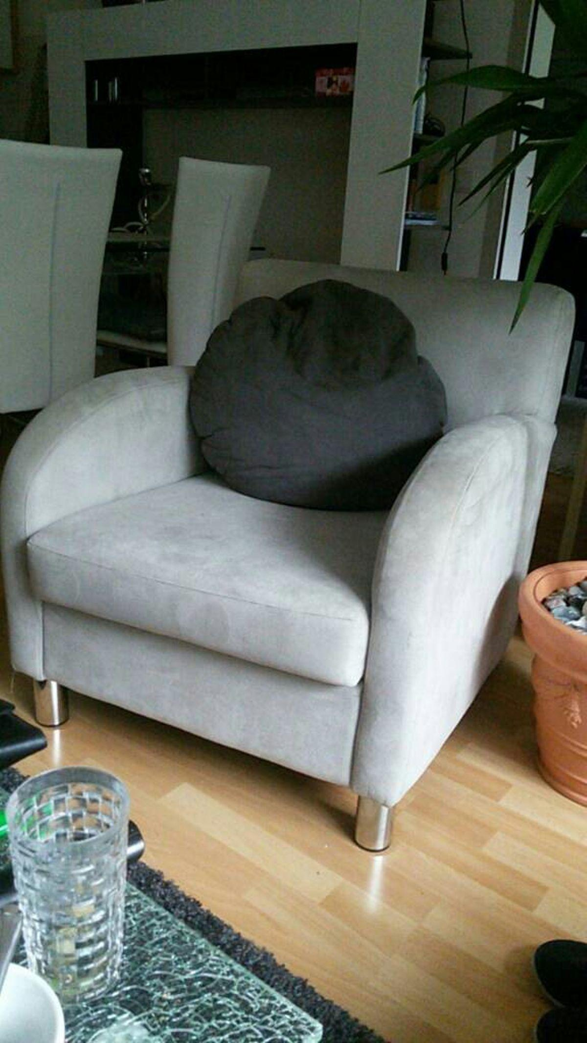 Couch Sessel Grau
