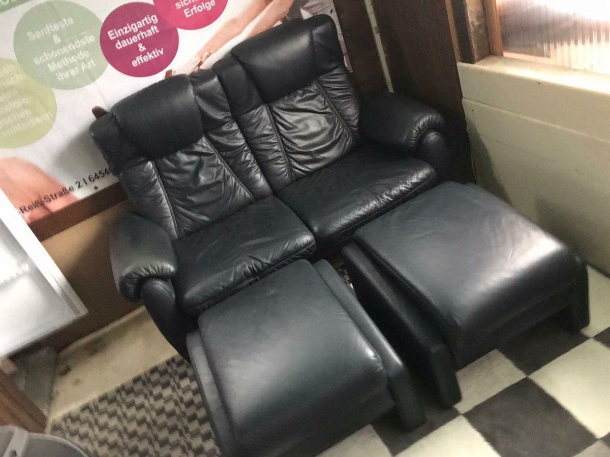 Couch Sessel Leder