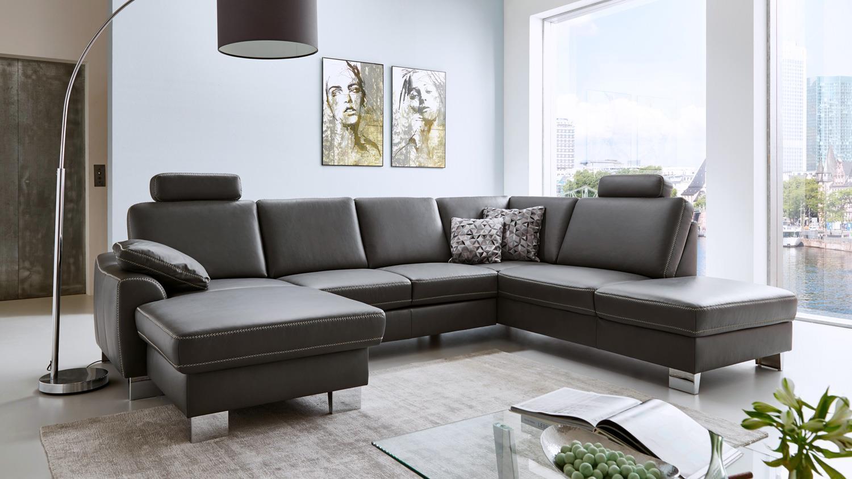 Couch U Form Leder