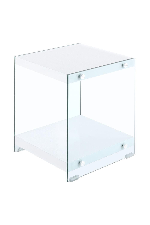 Couchtisch Weiß Holz Glas