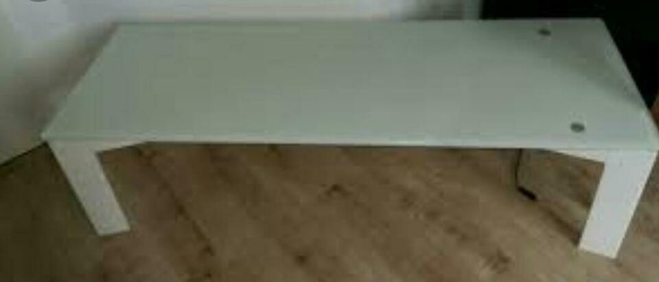 Couchtisch Weiß Mit Milchglasplatte