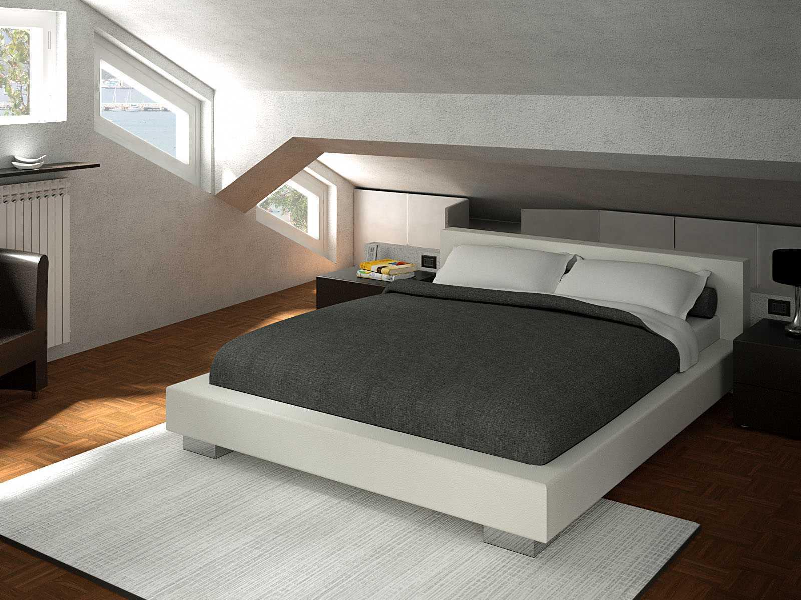 Dachboden Schlafzimmer Schrank