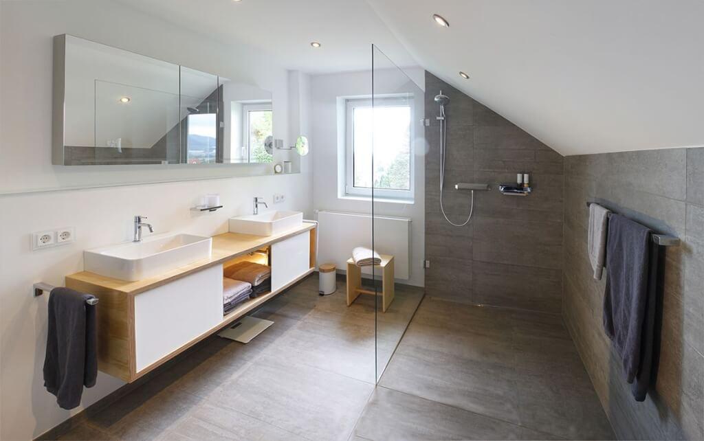 Dachschräge Neues Badezimmer