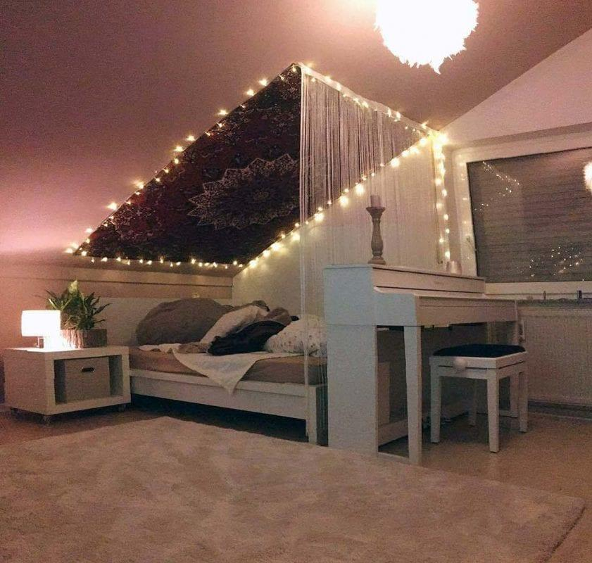 Dachschräge Bett Vorhang