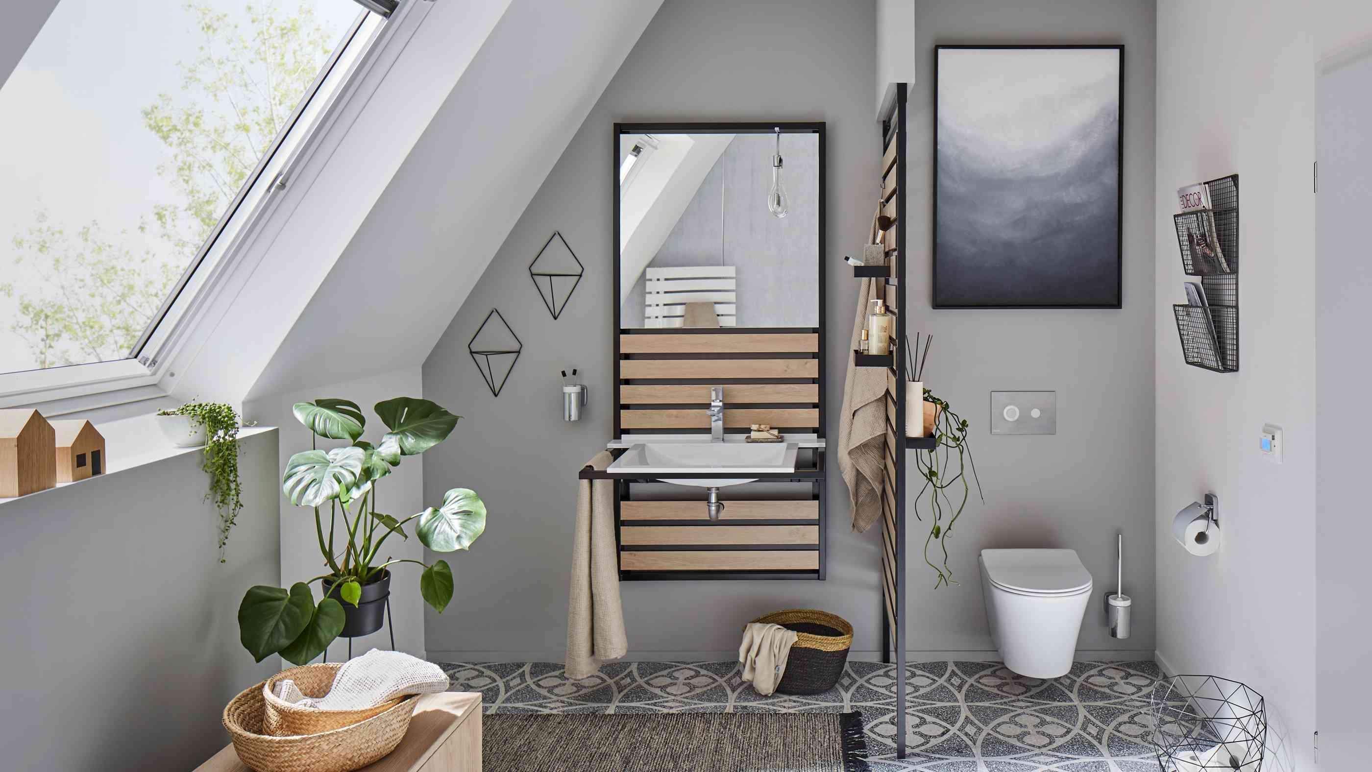 Dachschräge Kleines Bad Dachgeschoss Ideen