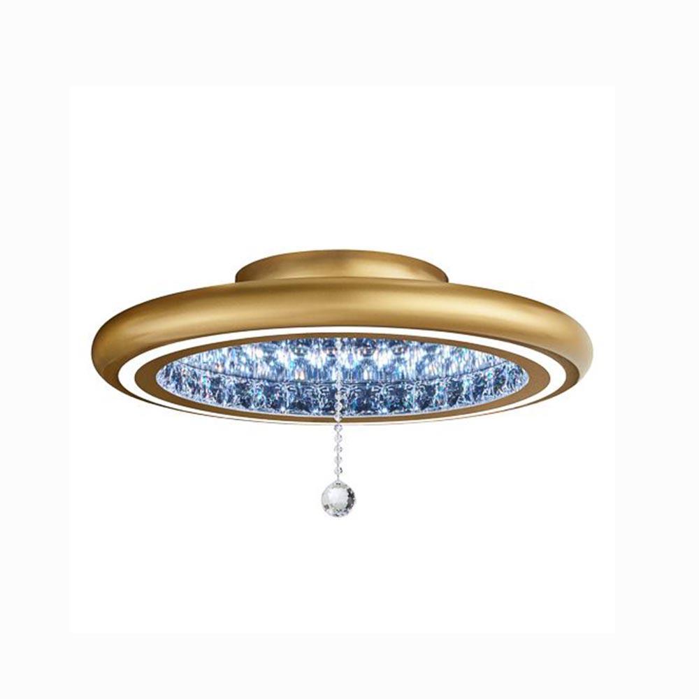 Deckenlampe Gold Kristall