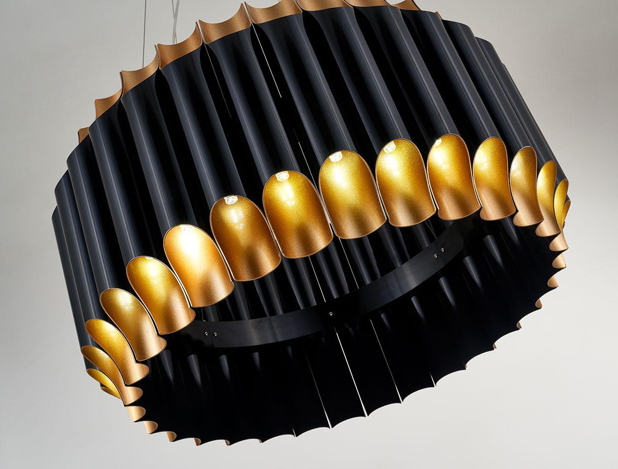 Deckenlampe Gold Schwarz
