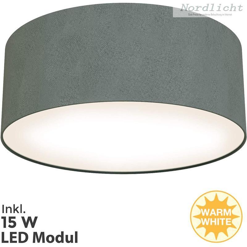 Deckenlampe Grau Stoff
