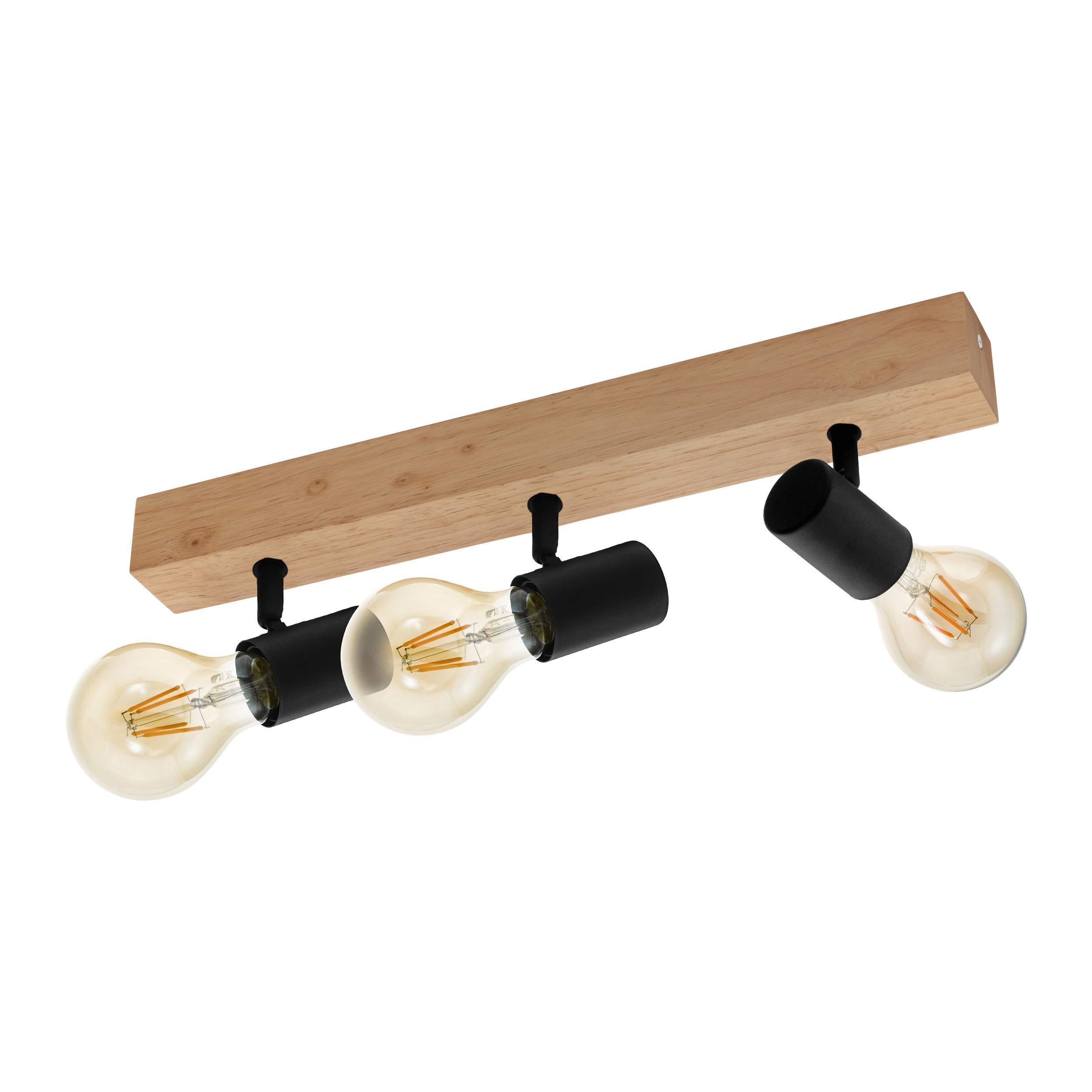 Deckenlampe Industrial Holz