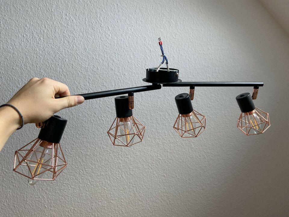 Deckenlampe Industrial Schwarz