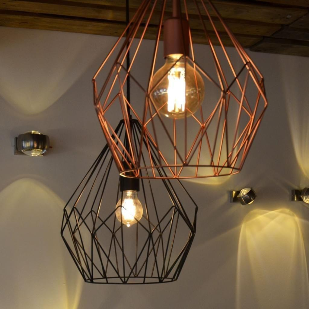 Deckenlampe Kupfer Vintage