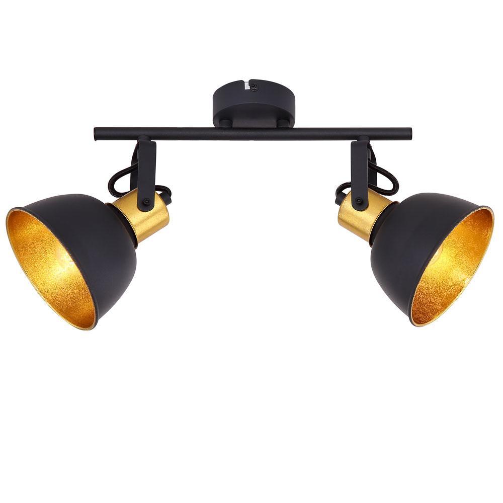 Deckenlampe Schwarz Gold Metall
