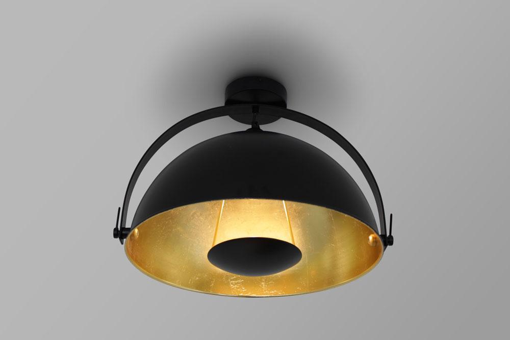 Deckenlampe Schwarz Kupfer
