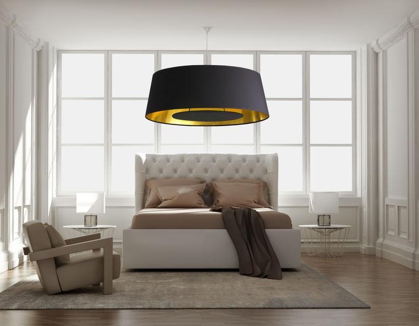 Deckenlampe Wohnzimmer Schwarz Gold