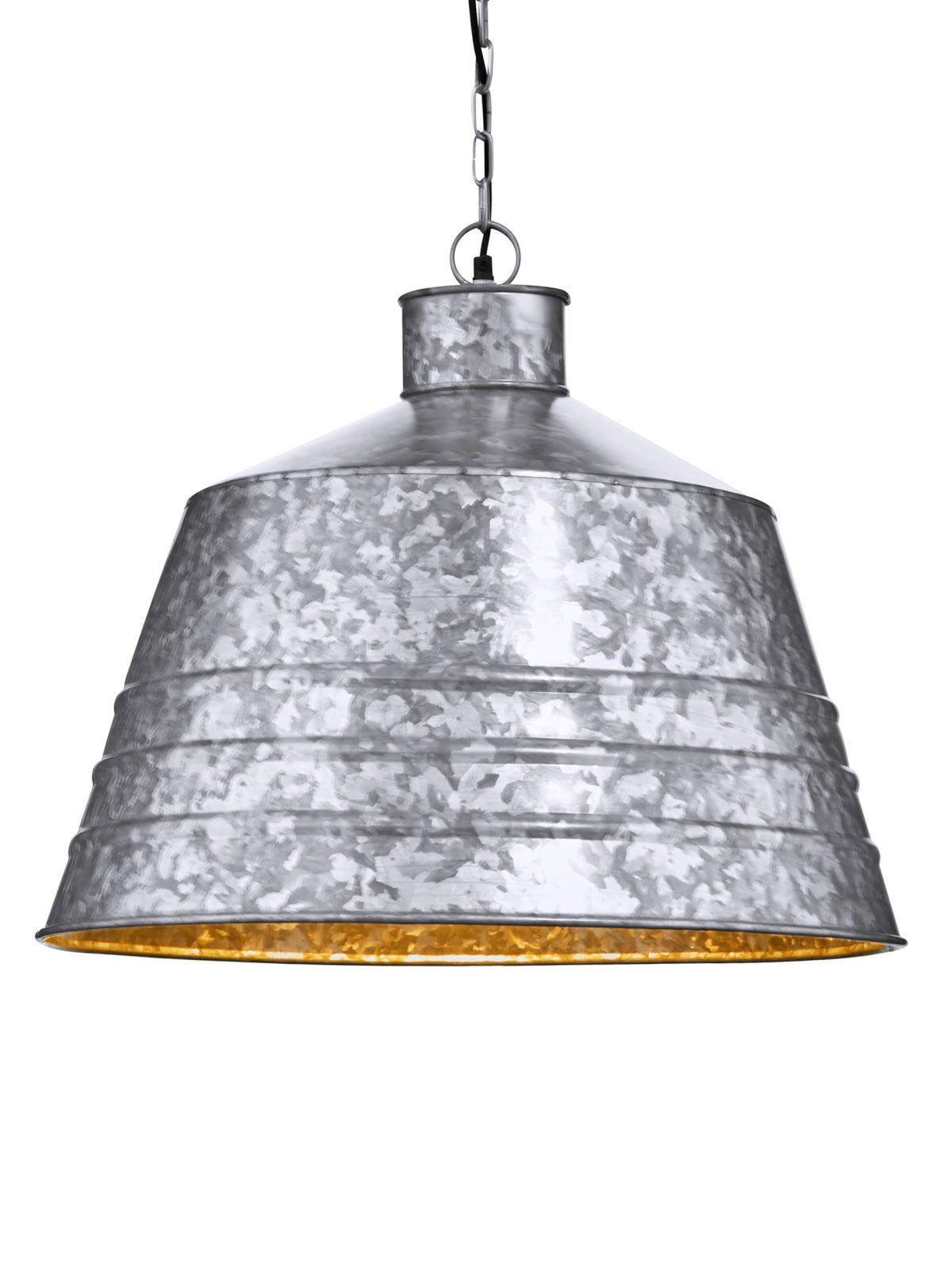 Deckenleuchte Industrial Silber