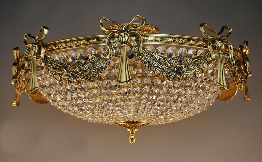Deckenleuchte Kristall Gold