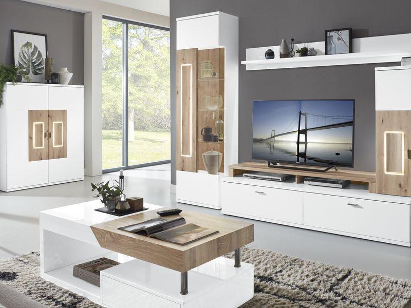 Design Holz Wohnwand