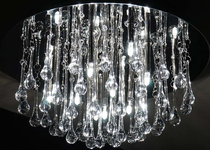Design Kristall Pendelleuchte