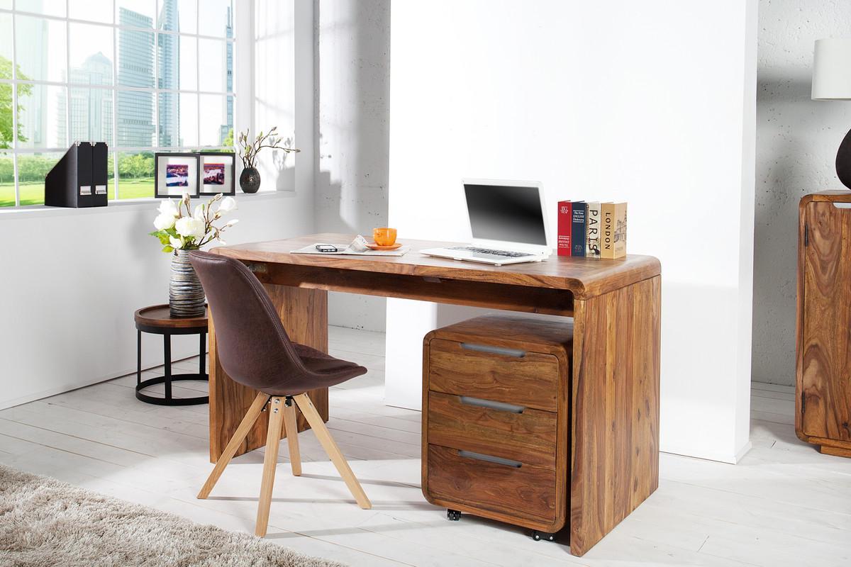 Design Schreibtisch Massivholz