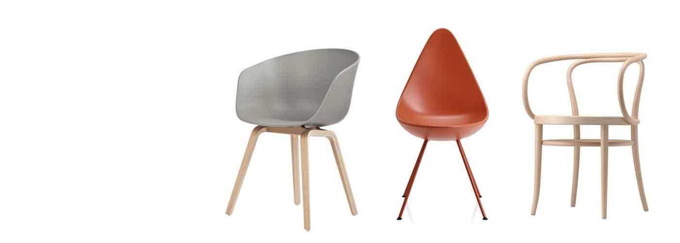 Design Stuhl Holz Leder