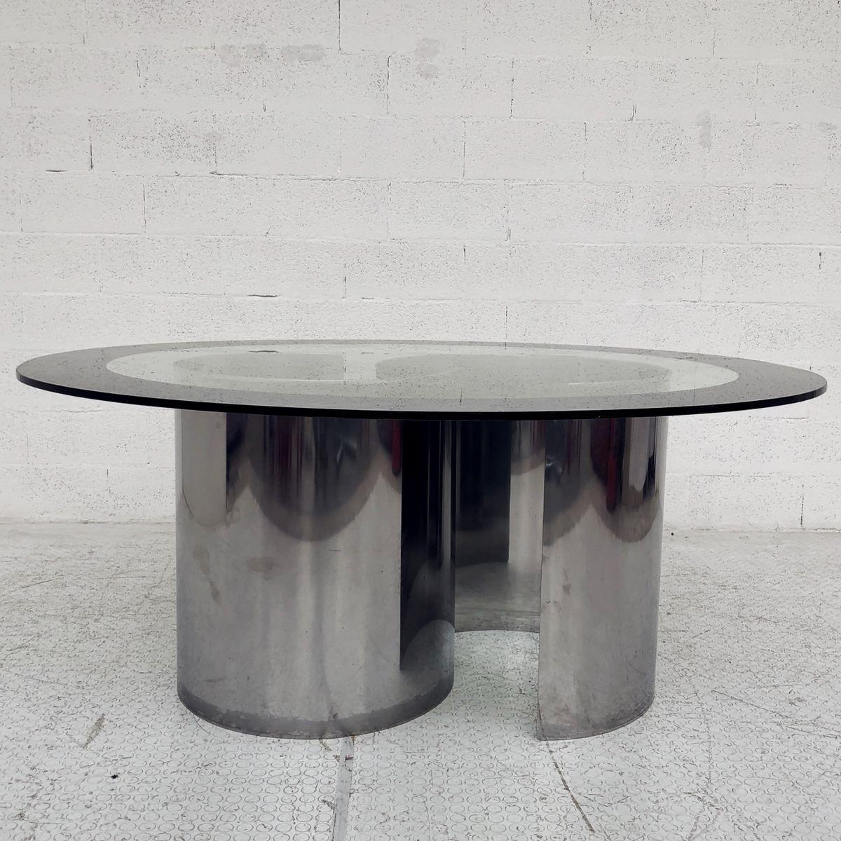 Designer Esstisch Glas Rund