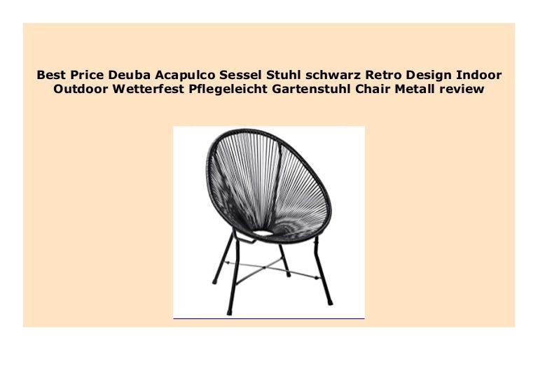 Designer Stuhl Schwarz Metall