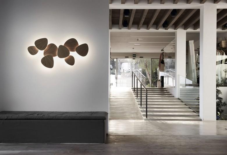 Designer Wandlampe Holz